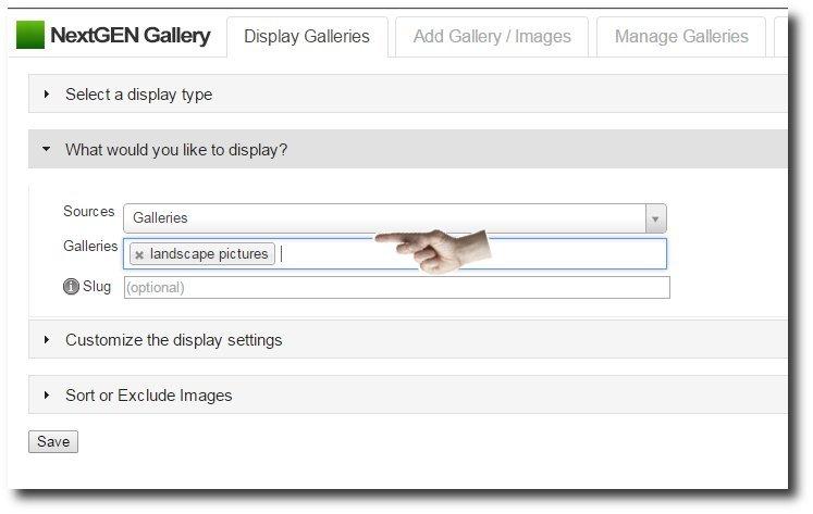 Select-display